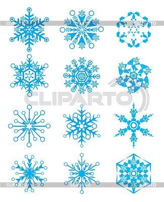 Płatki śniegu | Klipart wektorowy |ID 3052120