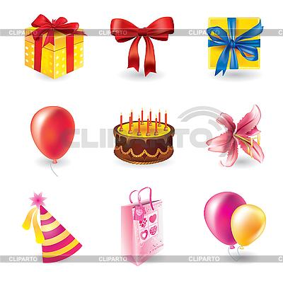 Набор на день рождения | Векторный клипарт |ID 3055796