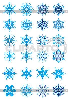 Świąteczne Zestaw śniegu | Klipart wektorowy |ID 3074568