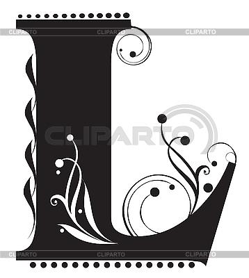Pierwsza litera L | Klipart wektorowy |ID 3075597