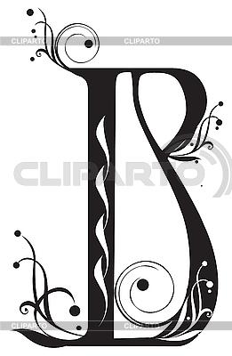 Декоративная буквица B | Векторный клипарт |ID 3076275