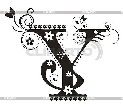 Decorative lette...Y Letter Design