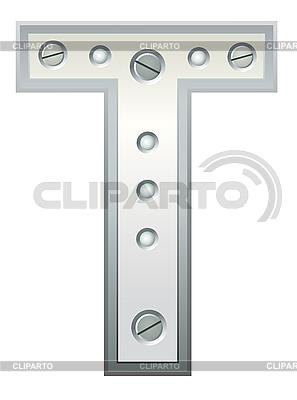 Metallischer Buchstabe T | Stock Vektorgrafik |ID 3078543