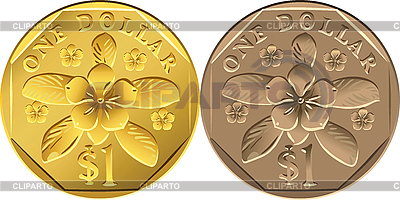 싱가포르 1 달러 동전 | 벡터 클립 아트 |ID 3049561