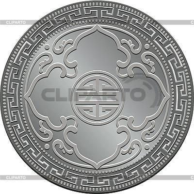 Wielka Brytania Handel srebrna moneta dolar | Klipart wektorowy |ID 3054479