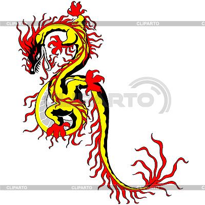 Asian Chiński smok złotych | Klipart wektorowy |ID 3058454