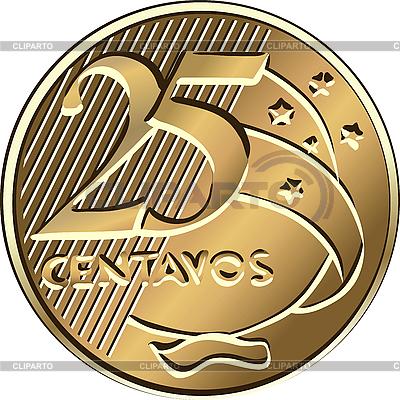 Brazilian dwadzieścia pięć monet centavo | Klipart wektorowy |ID 3060132