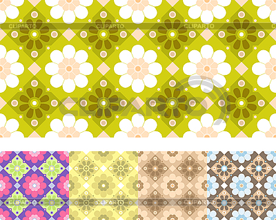 Nahtlose Blumenmuster | Stock Vektorgrafik |ID 3070021