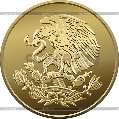 Mexikanische Münze mit nationalem Emblem | Stock Vektorgrafik |ID 3120834