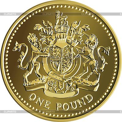 영국 1 파운드 동전 | 벡터 클립 아트 |ID 3128907