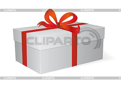 Geschenkbox mit roter Schleife | Stock Vektorgrafik |ID 3051893