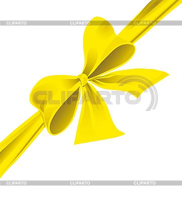 Бант из желтой ленты | Векторный клипарт |ID 3055353