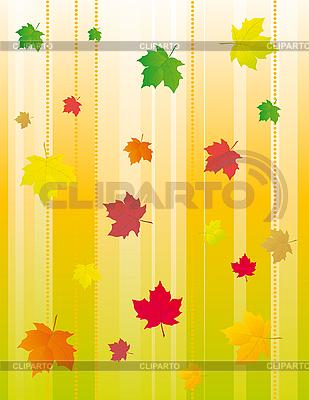 Tło z liści jesienią | Klipart wektorowy |ID 3055359