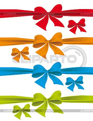 五颜六色的蝴蝶结 | 向量插图 |ID 3055463