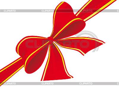 Big łuk czerwoną wstążką | Klipart wektorowy |ID 3055983