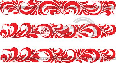 Rosyjski tradycyjne ozdoby Hohloma | Klipart wektorowy |ID 3059938