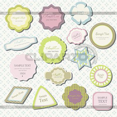 Klassische Dekorationselement Etiketten | Illustration mit hoher Auflösung |ID 3051986