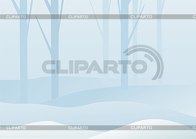 Krajobraz zimowy las | Klipart wektorowy |ID 3052520