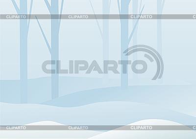 Winterwald-Landschaft | Stock Vektorgrafik |ID 3052520