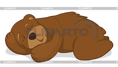 Векторный рисунок медведь 3