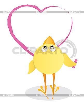 Kurczak i Valentine `s Day | Klipart wektorowy |ID 3052577