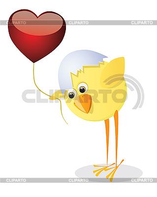 Kurczak i Walentynki | Klipart wektorowy |ID 3052579