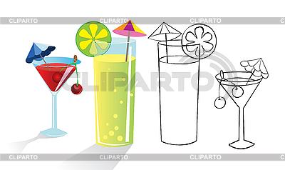Tropikalne drinki | Klipart wektorowy |ID 3053041