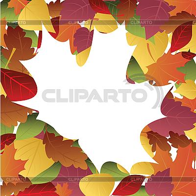Ramka z liści jesienią | Klipart wektorowy |ID 3054082