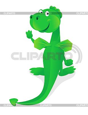 Забавный зеленый дракон | Векторный клипарт |ID 3054932