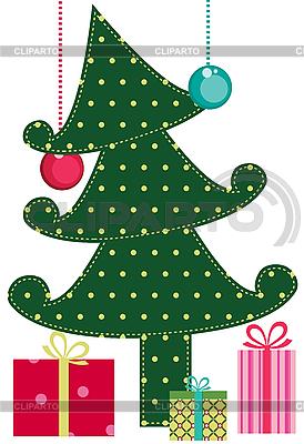 Weihnachtsbaum mit Geschenken | Stock Vektorgrafik |ID 3054976