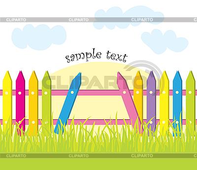 Zaun und Gras | Stock Vektorgrafik |ID 3057086