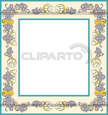 Rahmen mit Mäusen | Stock Vektorgrafik |ID 3057100