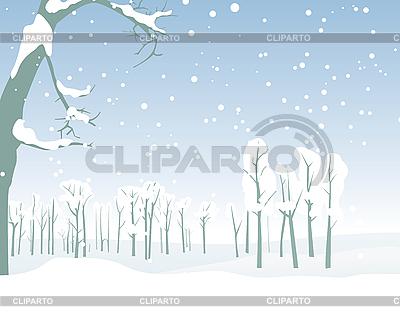 Zimowy krajobraz | Klipart wektorowy |ID 3079485