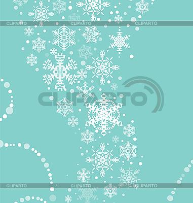 Weihnachshintergrund mit Schneeflocken | Stock Vektorgrafik |ID 3106955