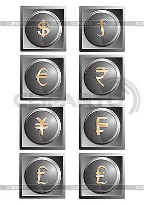 Pieniądze przycisków | Klipart wektorowy |ID 3062373