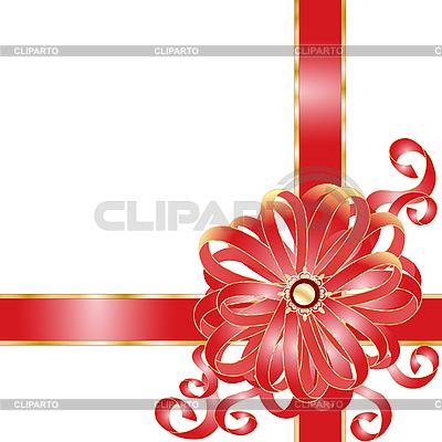 Geschenk mit rotem Band | Stock Vektorgrafik |ID 3062530