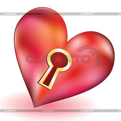 Herz mit Schlüsselloch | Stock Vektorgrafik |ID 3062657
