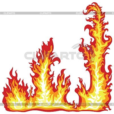 векторный клипарт огонь: