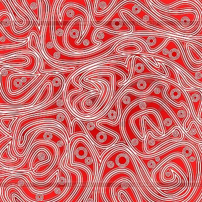 Czerwony wzór z linii i rundy | Klipart wektorowy |ID 3078341