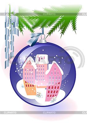Blaue Weihnachtskugel | Stock Vektorgrafik |ID 3082931