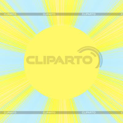 Sonne mit Strahlen | Illustration mit hoher Auflösung |ID 3052182