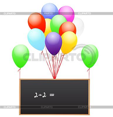 Powietrze balony z szkolnej tablicy | Klipart wektorowy |ID 3052233