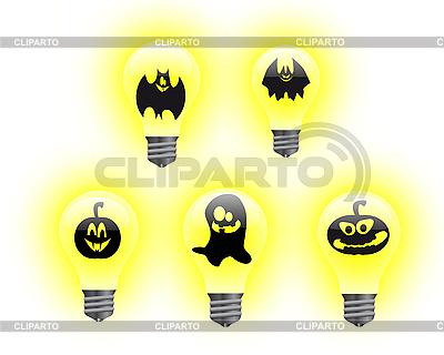 Halloween-Glühbirnen | Illustration mit hoher Auflösung |ID 3052395