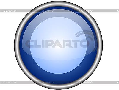 Niebieski okrągły przycisk www | Klipart wektorowy |ID 3052415