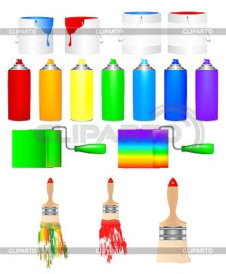 Farby i pędzle | Klipart wektorowy |ID 3053550