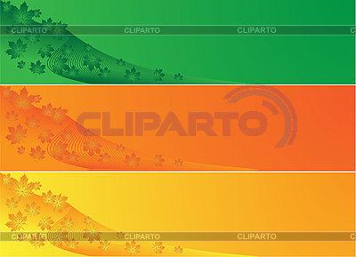 Transparenty z liści klonu | Klipart wektorowy |ID 3058969