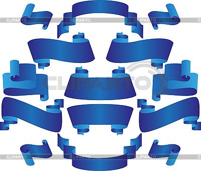 Niebieskie wstążki | Klipart wektorowy |ID 3058971