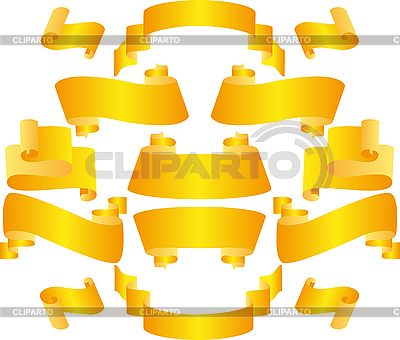 Gelbe Schleifen und Bänder | Stock Vektorgrafik |ID 3058975