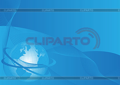 Blaue Erdkugel und Wellen | Stock Vektorgrafik |ID 3059353