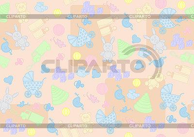 Bezszwowe tło dla dzieci | Klipart wektorowy |ID 3076668